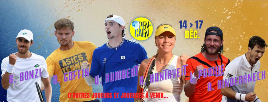 Les joueurs et joueuses qui composeront le plateau de l'Open de Caen 2021. Les derniers seront annoncés prochainement.